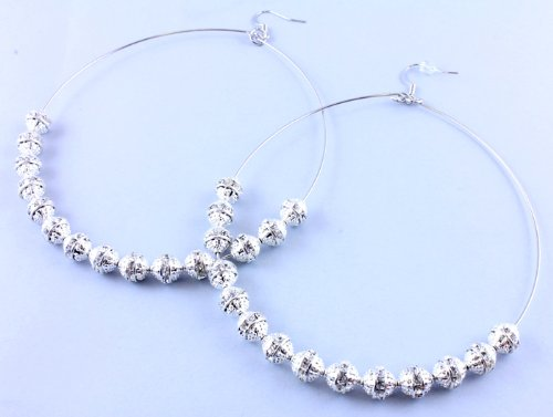 EARRING FISH HOOP BASKET BALL WIVES EARRING CLEAR Fashion Jewelry Costume Jewelry fashion accessory Beautiful Charms