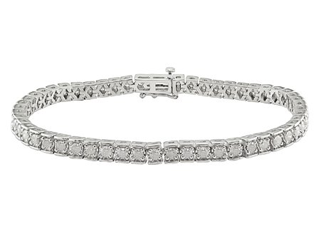 Sterling Silver 3 CT TDW Diamond tennis Bracelet (G-H, I3)