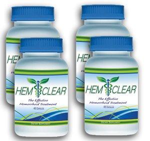 HemClear- The #1 Selling Hemorrhoids Treatment- 4 bottles