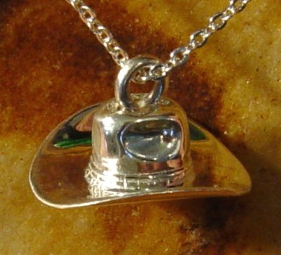 Cowboy Hat - Sterling Silver Cremation Jewelry (Cowboy Hat Urn compare prices)