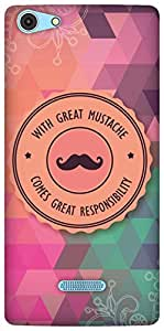 The Racoon Lean With Great Mustache hard plastic printed back case/cover for Micromax Canvas Selfie 3 Q348