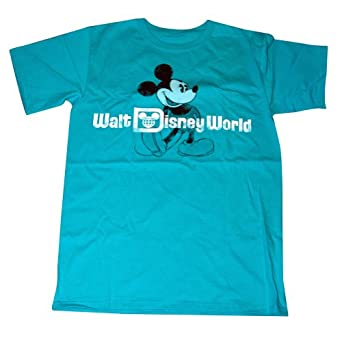 Mickey mouse tee for adults walt disney world teal for Oversized disney t shirts