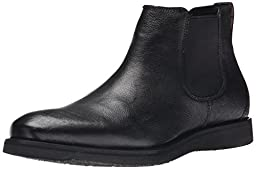 Kenneth Cole REACTION Men\'s Thank Me Later Chelsea Boot, Black, 12 M US