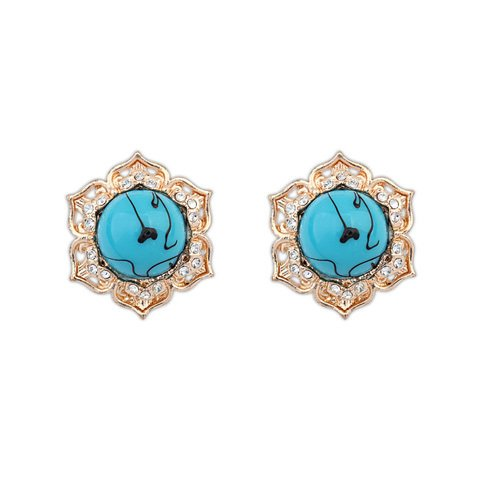 Best Super Cheap 13.00G Vintage Star Resin Blue Green Red Statement Earrings 2014 Fits Wedding Top Sale