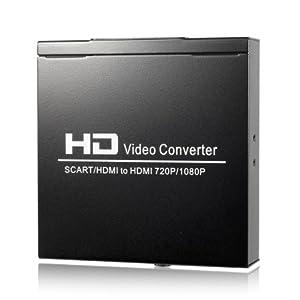 Adaptateur Convertisseur Péritel + HDMI 1080P vers HDMI HD TV pour WII PS3 HDTV PS2 AC115