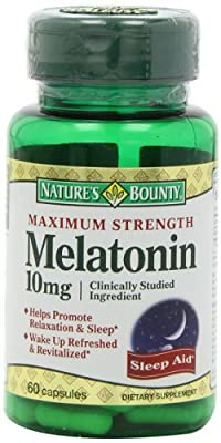 Nature's Bounty Maximum Strength Melatonin 10mg Capsules, 60-Count(pack of 6) (7kxn49e)