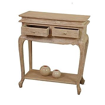 console 2 tiroirs en en teck c rus 70 cm louis cuisine maison z488. Black Bedroom Furniture Sets. Home Design Ideas
