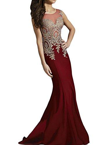 SeasonMall-Womens-Luxury-Prom-Dresses-Mermaid-Scoop-Spandex-Sweep-Train-Dresses