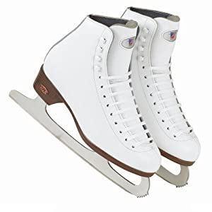 Riedell Ice skates - Red Ribbon 117 W - Spiral Ice blade - Size 5.5