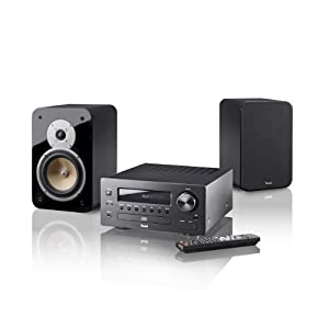teufel kombo 42 mini hifi anlage stereo schwarz. Black Bedroom Furniture Sets. Home Design Ideas
