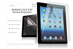 Acase Clear Screen Protector for iPad 4 / iPad 3 / The New iPad / iPad 2 - Invisible Film Protective Screen for Apple iPad 3 with Retina Display Tablet (3-Pack)