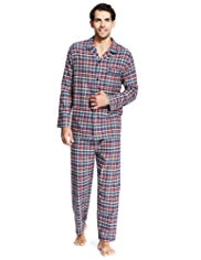 Pure Cotton Winceyette Checked Pyjamas