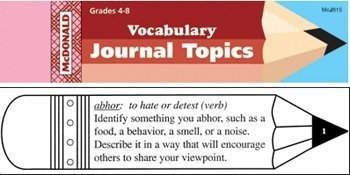 Mcdonald Publishing Mc-j815 Vocabulary