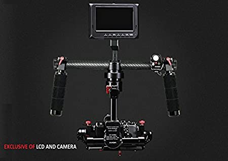 FLYCAM 3-Axis Handheld Gimbal stabilizer for Panning Tilting rolling joystick remote control Supports Cameras up to 1kg Video Movie Shots (FLCM-BDY-3X) at amazon