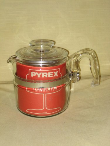 VINTAGE Corning Pyrex Flameware 4 cup Percolator Coffee Pot (Pyrex Coffee Percolator compare prices)