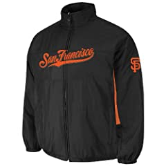 San Francisco Giants Black Authentic Triple Climate 3-In-1 On-Field Jacket by... by Majestic