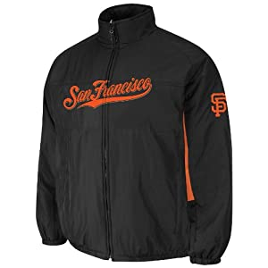 San Francisco Giants Black Authentic Double Climate On-Field Jacket by Majestic by Majestic