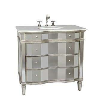 Luxury Bathroom Vanities Mirrored Bathroom Sink Vanity Model BWV
