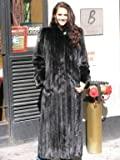 STUNNING NEW RANCH MINK FUR COAT sz8 #10784