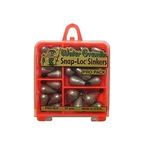 Water Gremlin Snap Loc Dipsey Pro Pack, 7ea/10, 6ea/9, 5ea/8, 5ea/7, 4ea/6
