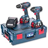 Cutting-Edge Bosch Cordless GSB Combi & GDR Impact Kit Li-Ion In L-Boxx 18V