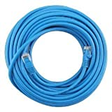 Fosmon Blue Cat5e Ethernet LAN Network Cable (Male to Male) (200 FT)