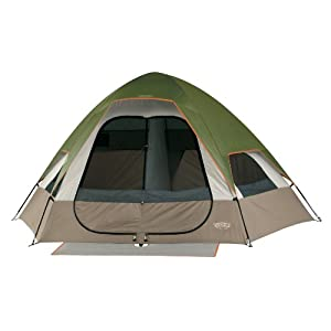 Wenzel Big Bend 12-by-10 Foot Five-Person Two-Room Family Dome Tent