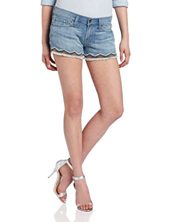 Lucky Brand Women's Riley Short With Aztec Embroidery, Periwinkle, 28