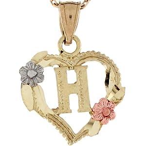 H Letter In Heart Heart  amp Roses Letter H
