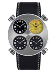 Meccaniche Veloci Men's W102D_032 Automatic Titanium and Aluminum 4 Dial Dual Time Date Watch