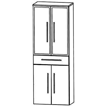 Puris Star Line (HNA056B7M Bathroom High Cabinet 60 CM