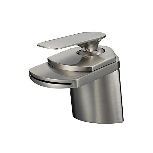 Fantastic Deal! ALYA FAUCET WIDESPREAD BATHROOM FAUCET IN BRUSHED NICKEL (ALYA-81H19-BN)