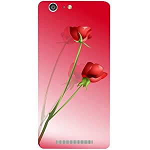 Casotec Red Roses Design Hard Back Case Cover for Gionee Marathon M5