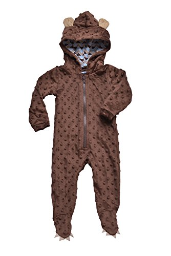 Mud Pie Baby-Boys Newborn Bear One Piece, Brown, 3-6 Months front-557223
