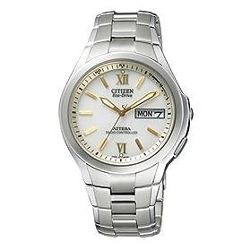 【クリックで詳細表示】[シチズン]CITIZEN 腕時計 ATTESA アテッサ Eco-Drive エコ・ドライブ 電波時計 デイ&デイト ペアモデル ATD53-2791 メンズ