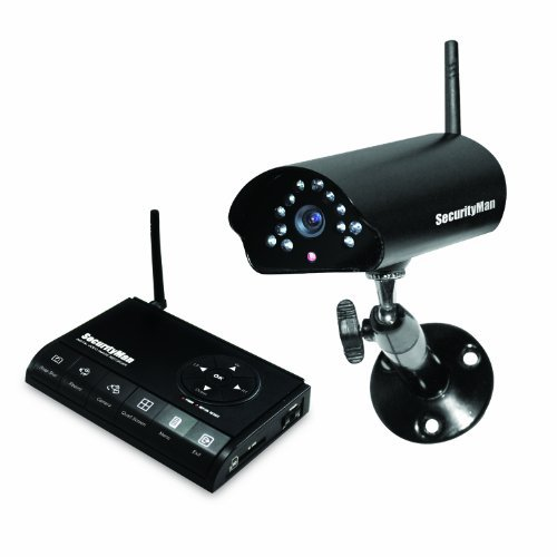 Securityman Digiairwatch 4-Channel Wireless Dvr With 1 Wireless Camera, Night Vision, Audio And Sd Card Recorder (Black)