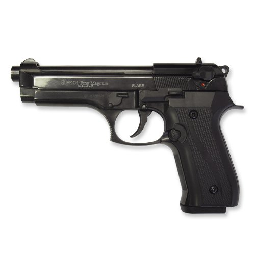 Amazon.com : Ekol Beretta 92f Front Firing Blank Gun, Black : Starter