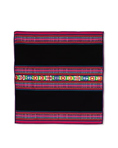 Uptown Down Found Woven Throw, Black/Multi