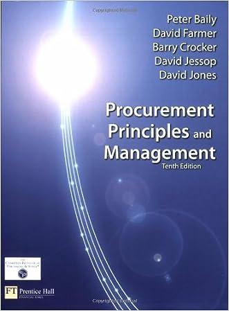 Procurement, Principles & Management (10th Edition)