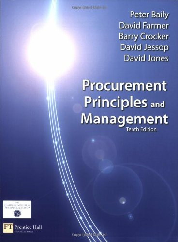 Procurement, Principles & Management (10th Edition)