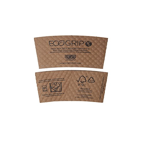 Ecogrip Hot Cup Sleeves Renewable & Compostable, 1300/Ct eg-2000