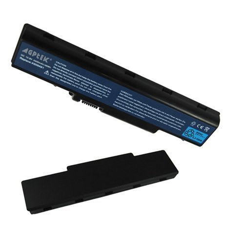 RUSHPOWER Laptop Battery for EMACHINE D525 D725 AcerAspire 5732Z Battery AS09A71 AS09A73 [11.10V, 4400mAh, 6cubicle Li-ion]