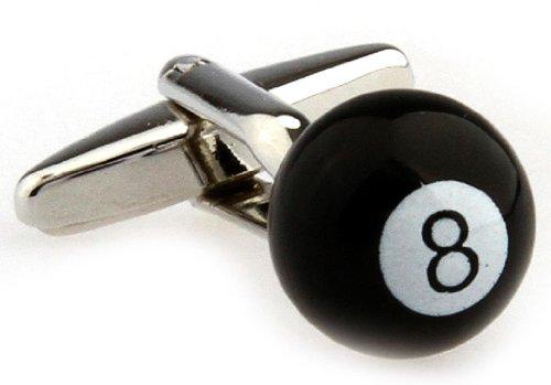 Eight 8 Ball Pool Cufflinks with a Presentation Gift Box