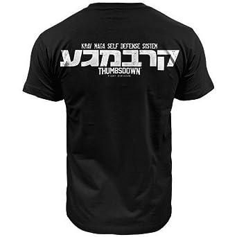 Krav Maga Self Defense System T-shirt, Thumbsdown Fight Division (size Small)