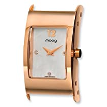 Moog Rose Pol. Stnlss Stl/MOP Dial/3 Crystal Mrkrs Watch Only