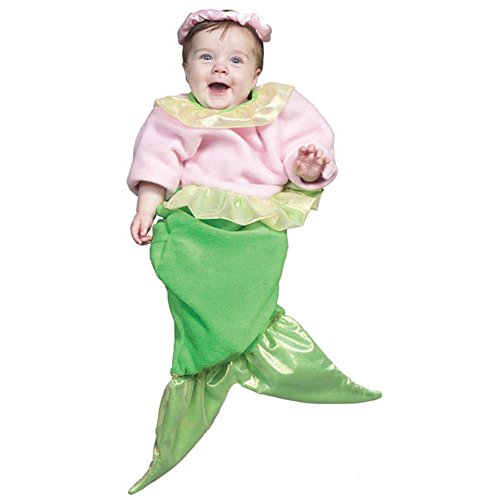 Pink Baby Mermaid Halloween Costume (Size:0-9M)