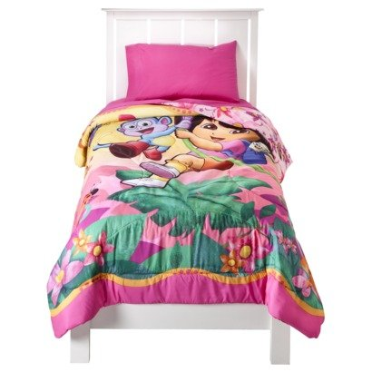 Dora The Explorer Microfiber Twin Comforter With Bonus Tote back-1056831