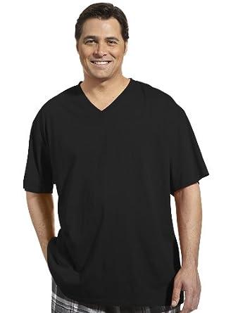 Harbor bay big tall deep v neck t shirt at amazon men s for Mens tall v neck t shirts