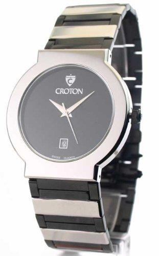 Mens Croton Steel Swiss Movement Date Watch CN307185SSBK