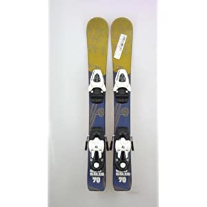 New ECO Green Blue Pattern Kid's Shape Snow Ski with Salomon T5 Binding 70cm